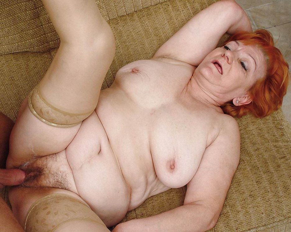 Fat old woman with a hairy pussy has fun