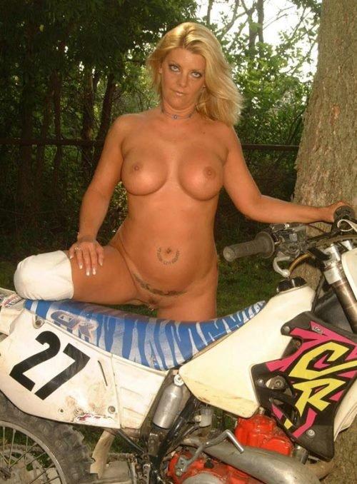 Hot blonde naked biker babes