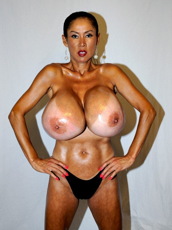 Minka oiled tits