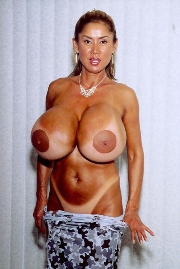 Busty babe minka having a monster huge tits to show