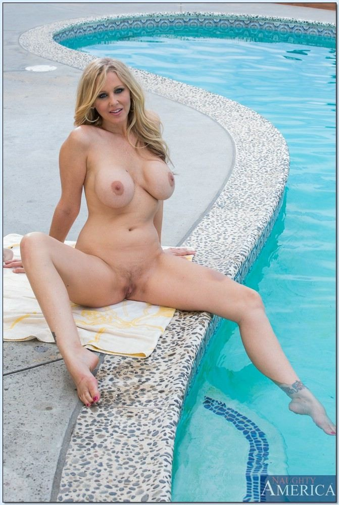 Busty milf gets teased and banged in the pool in a bikini porn vid, free porn