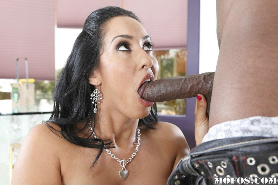 Busty milf isis love takes son's pal's huge monster cock balls deep