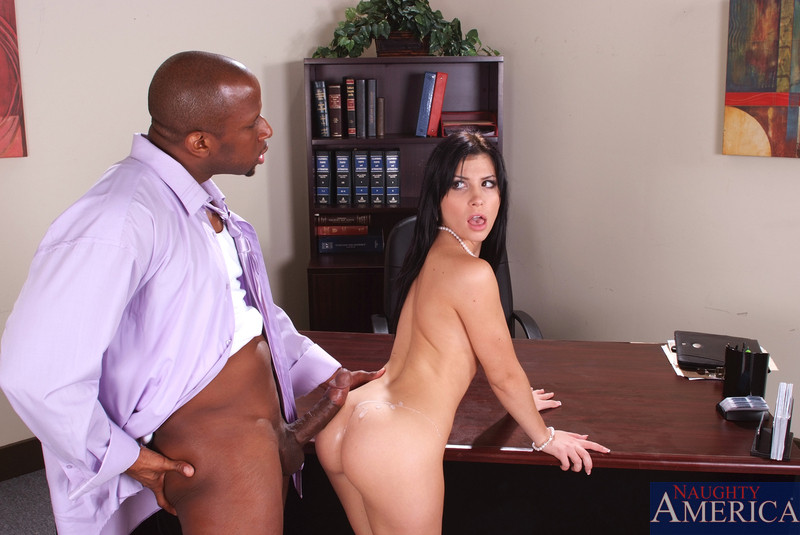 Office sex interracial