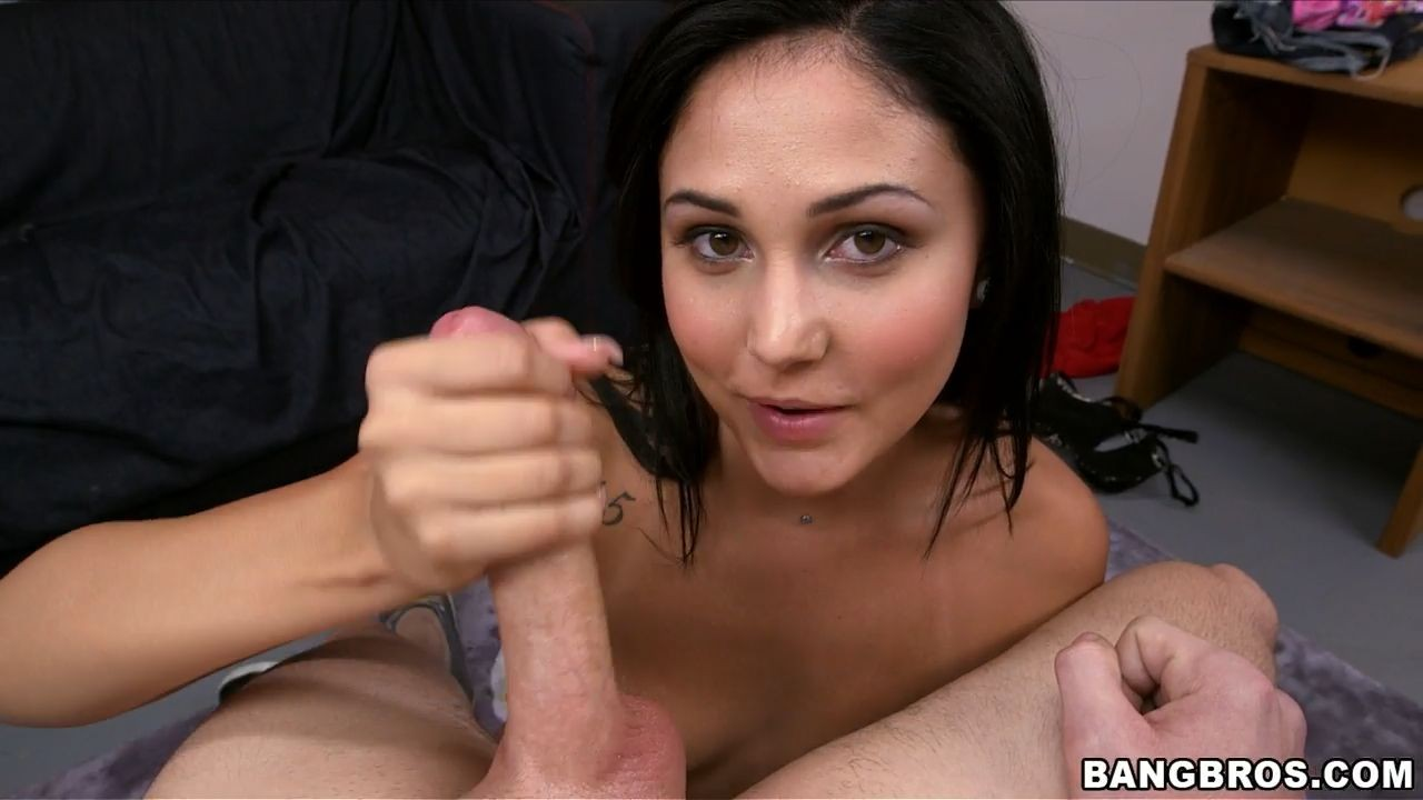 Handjob pov on screen