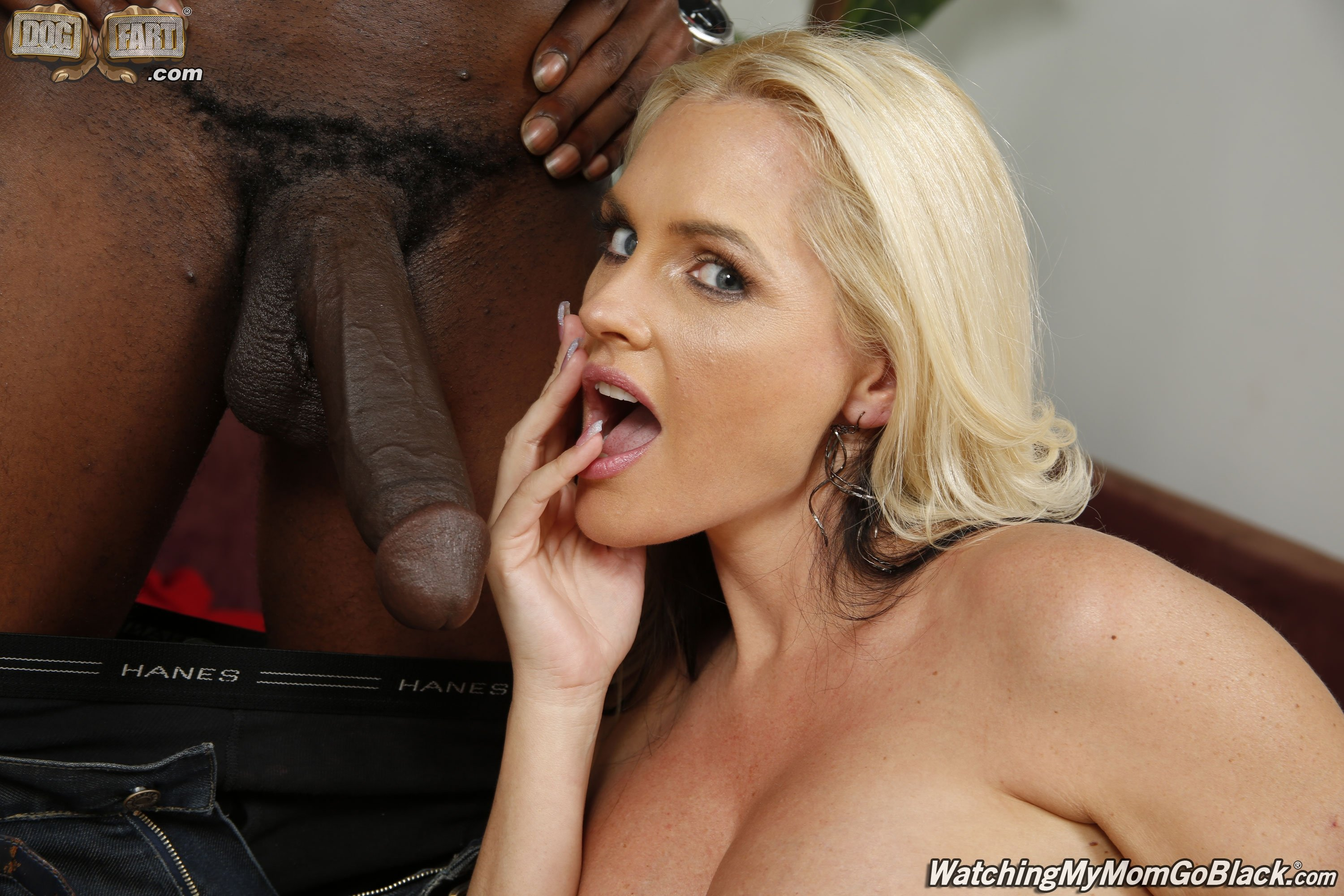 Busty Blonde Mom Sucks Big Black Cock And Gets Fucked Hard In Multiple Positions