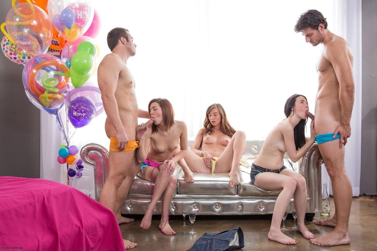 Порно фильм муж на день рождения