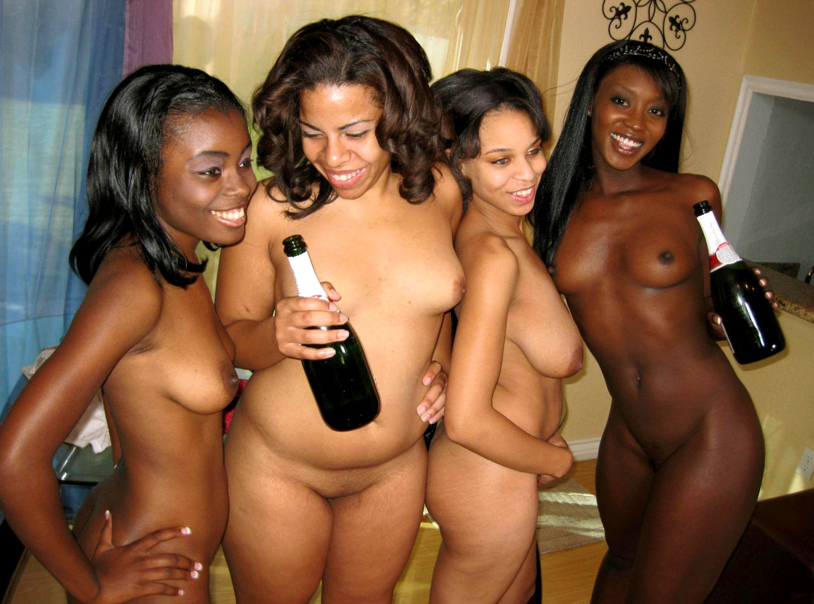 That group of hot ebony girls nude shaved tight flavor