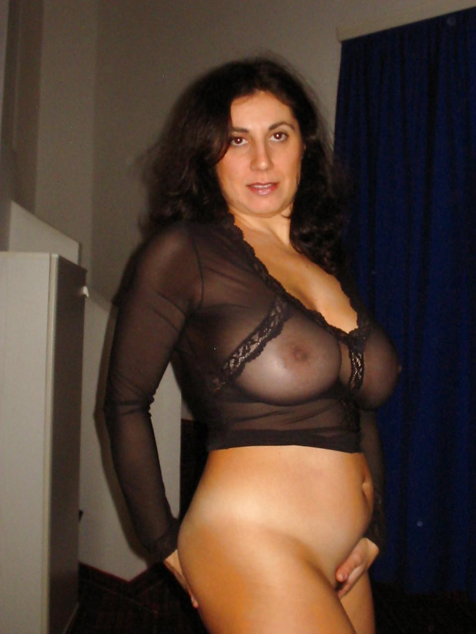 Sexy mature new jersey style woman stock photo