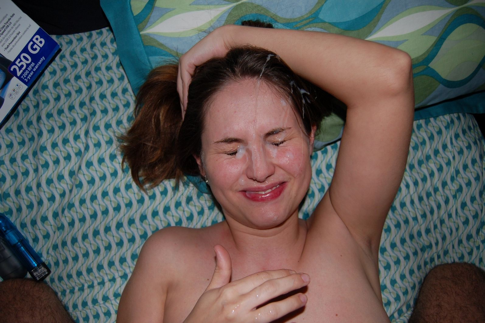 Жена впервые получила сперму на лицо