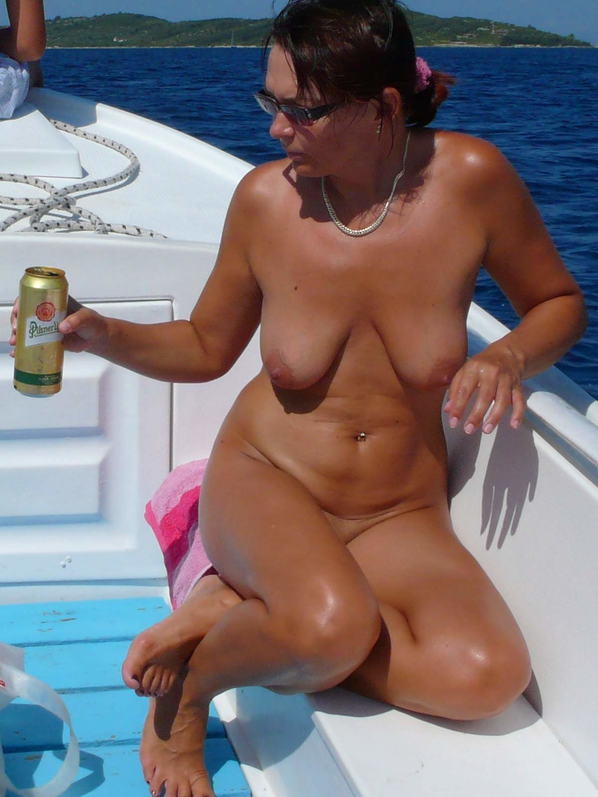 Mature Beach Boobs