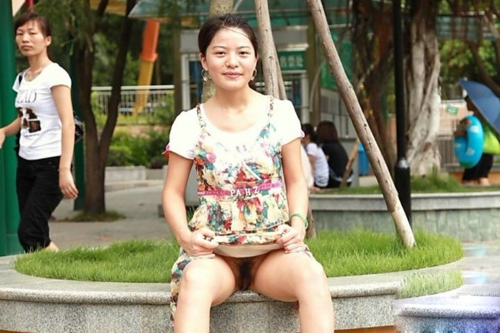 Friend's chinese wife flashing in public