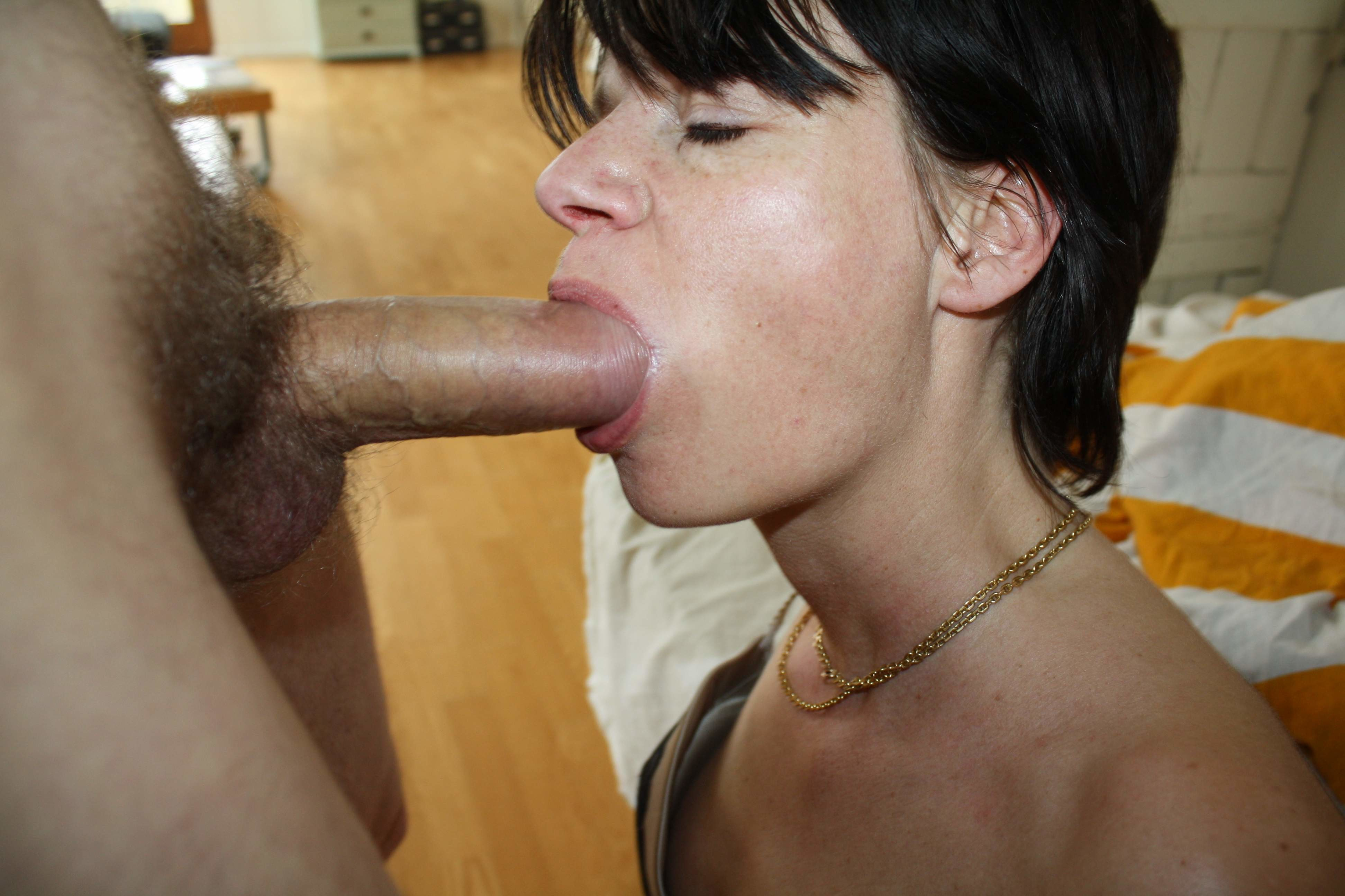 This Cock Hungry Slut Loves To Suck A Dick And She Looks Like An Ordinary Girl