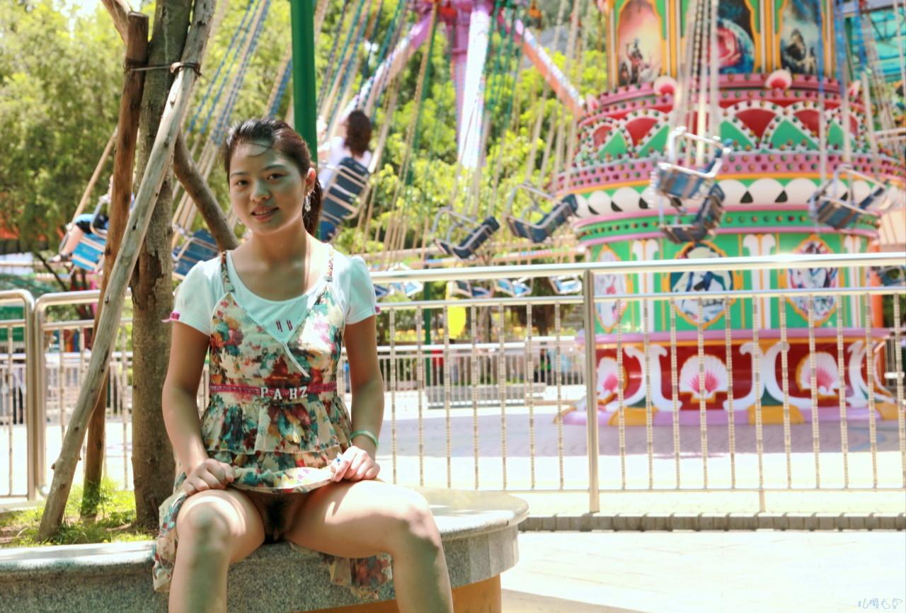Upskirt amusement parks