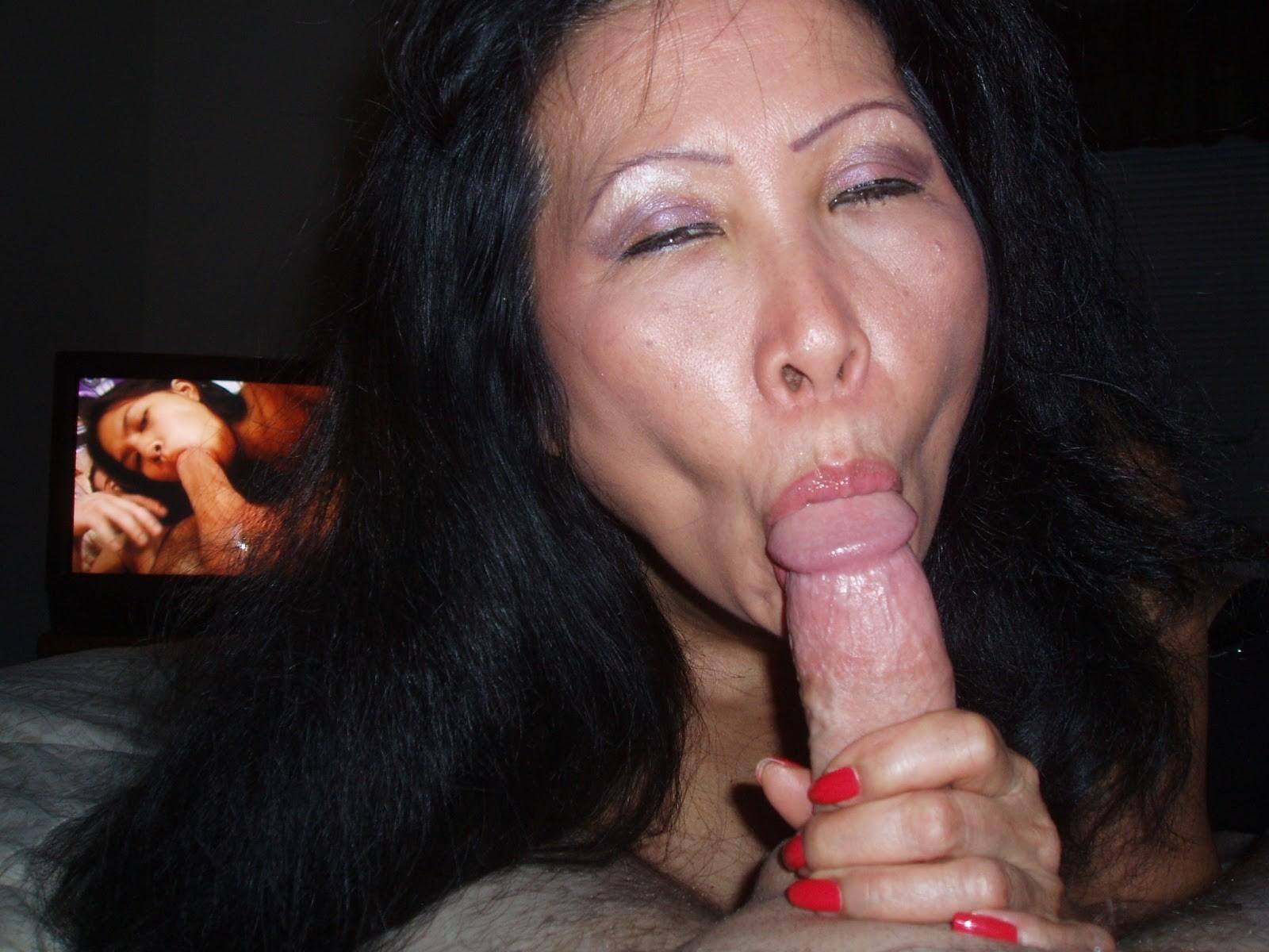 Cock sucking asian moms