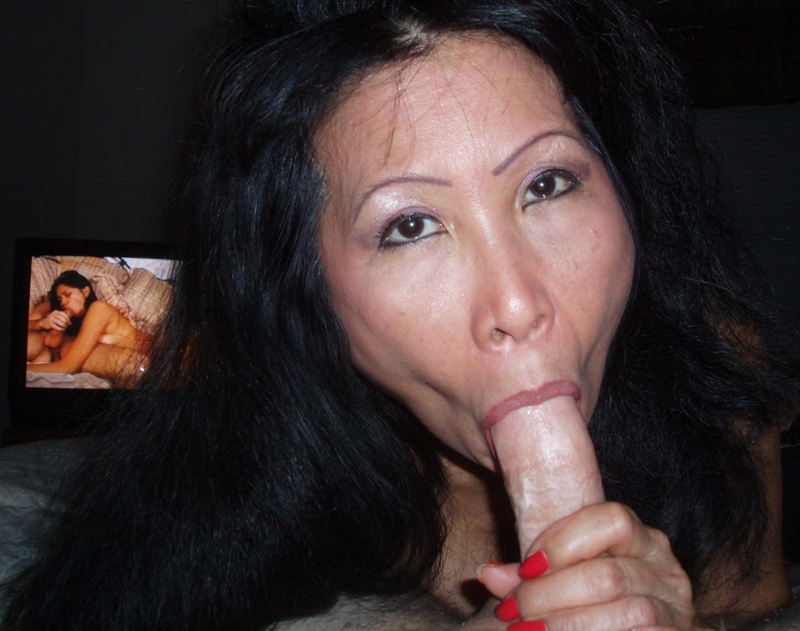 Asian milf loves big cocks