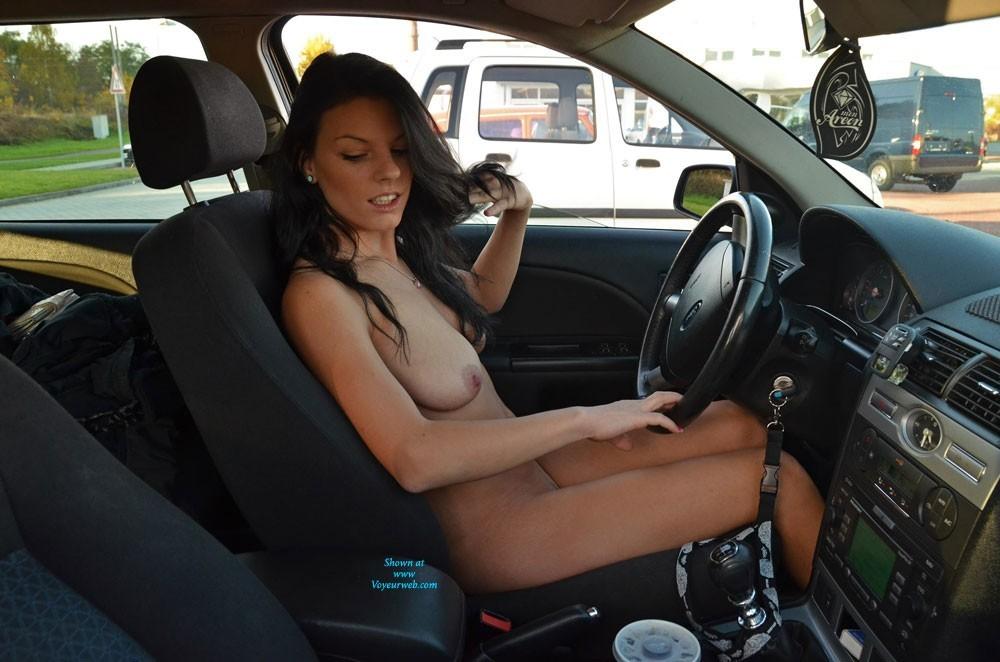 Girl Naked Driving Car