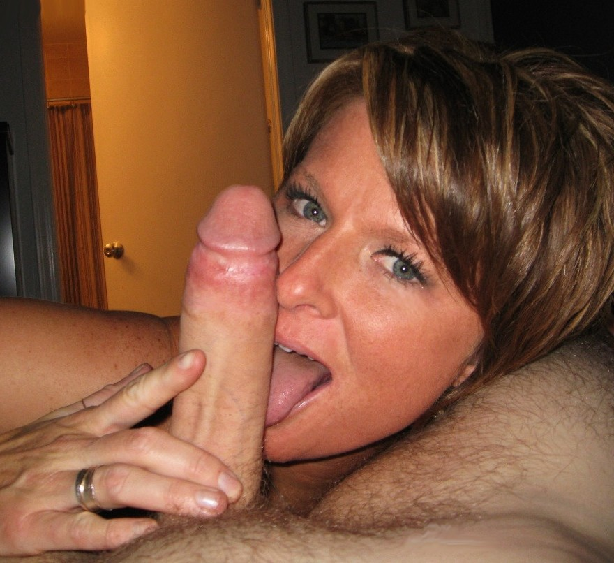 Mom loves her son cock sucking