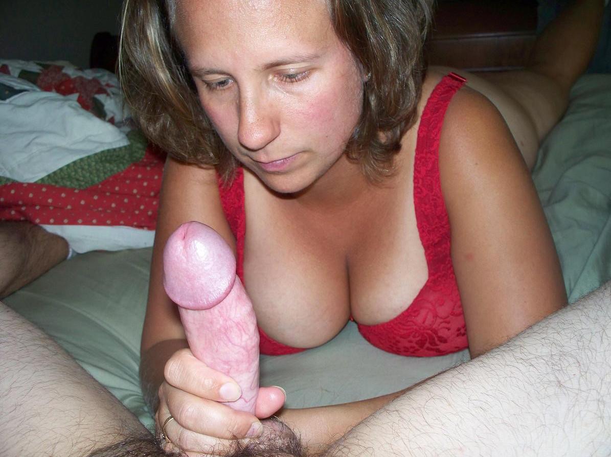 Small wife handjob