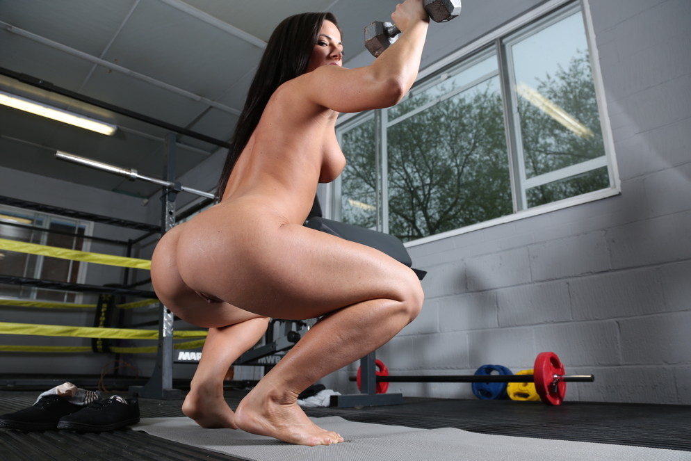 Women workout naked