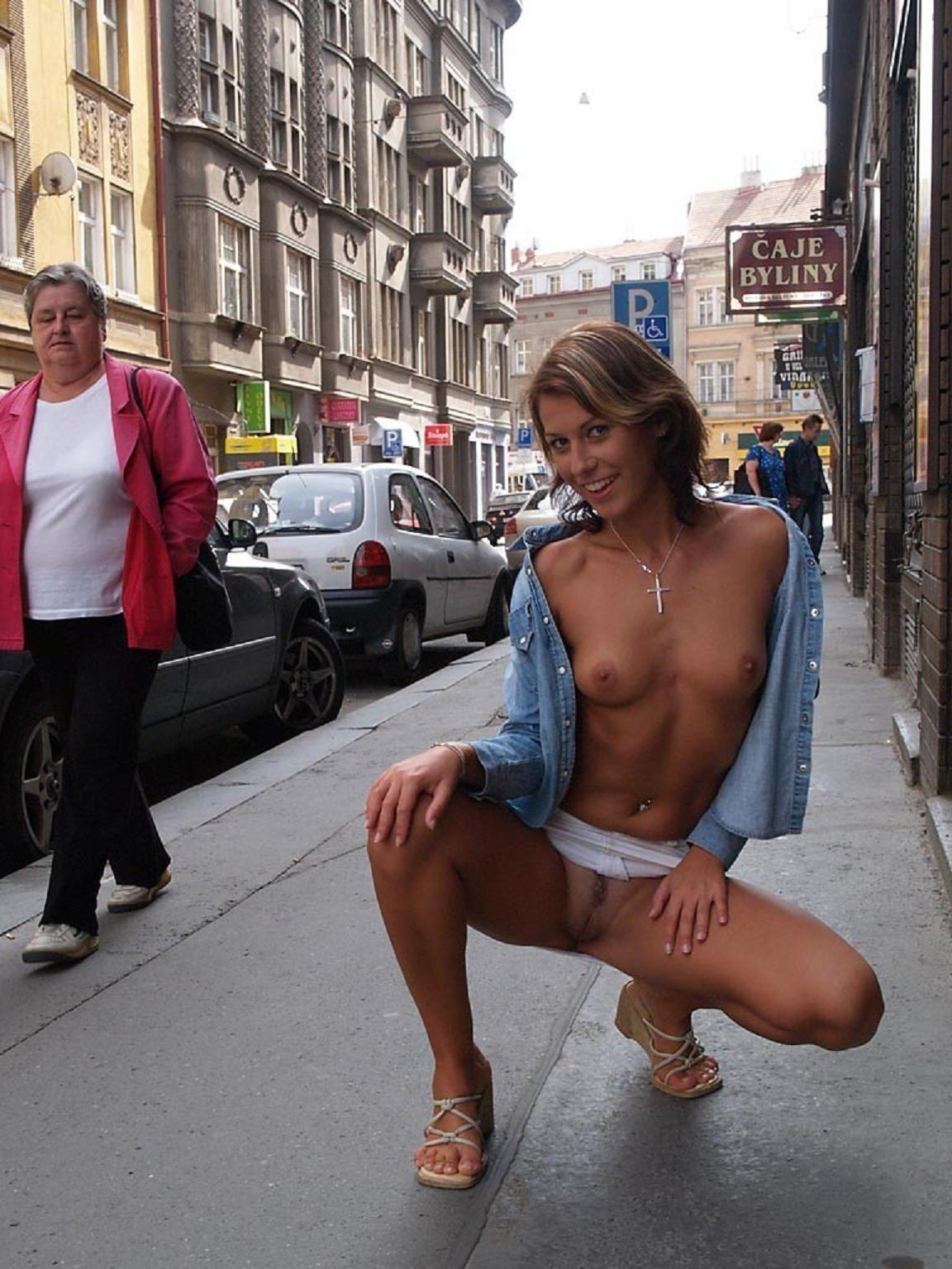 Nude mature public flash