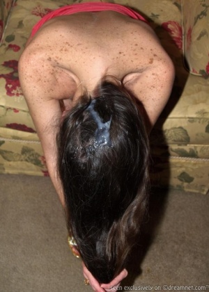 Кончают на волосы - подборка 001