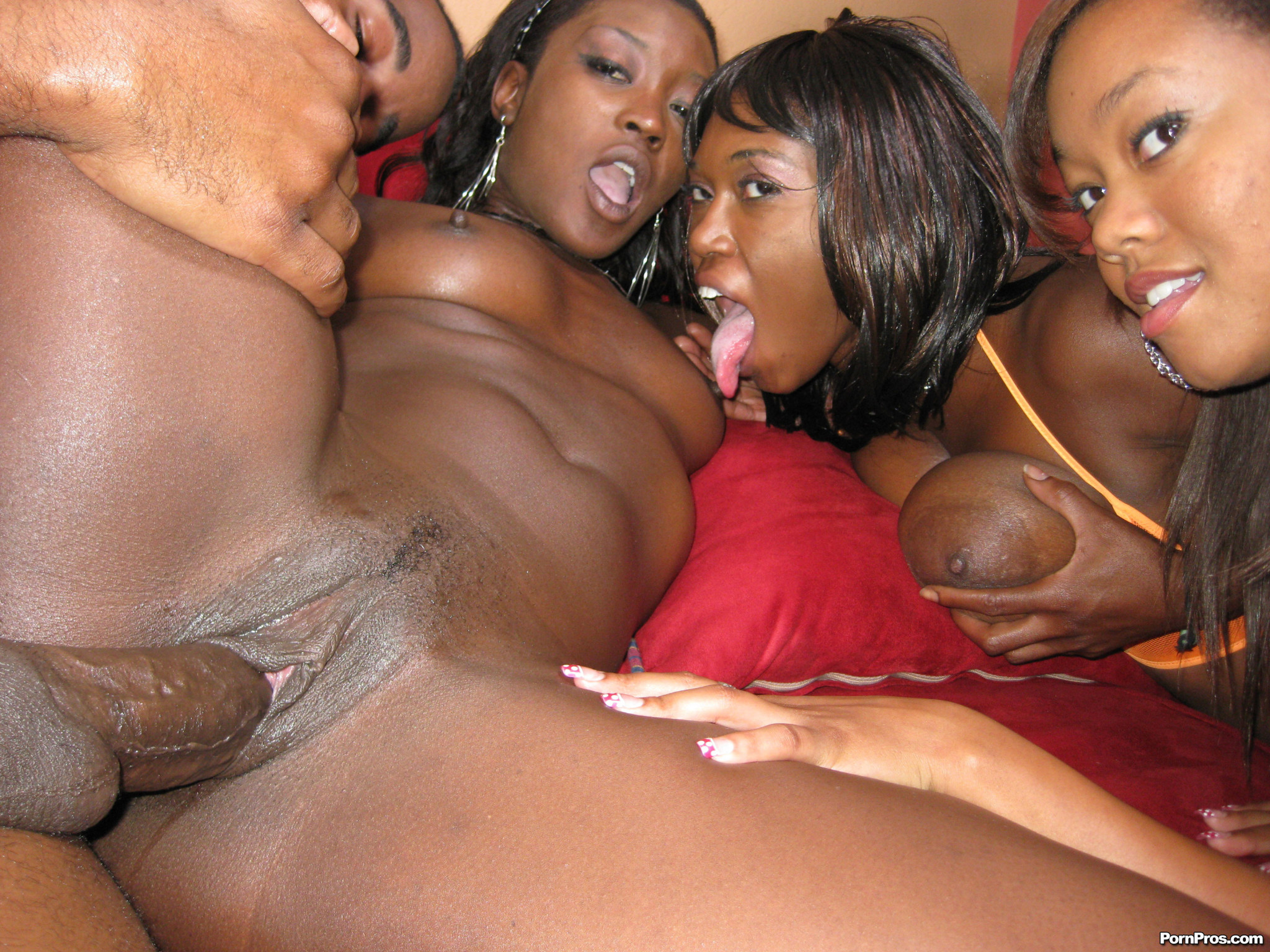 Very bad black girls and a white slave girl