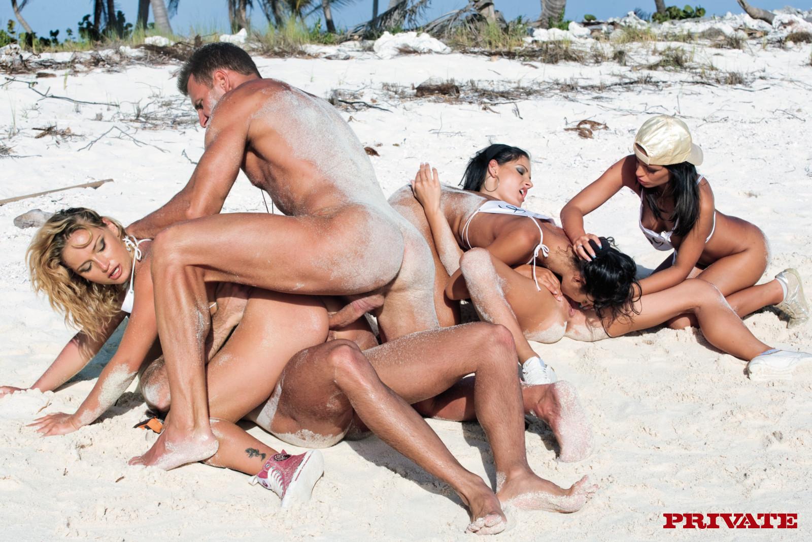 The blast of hot beach group sex pics