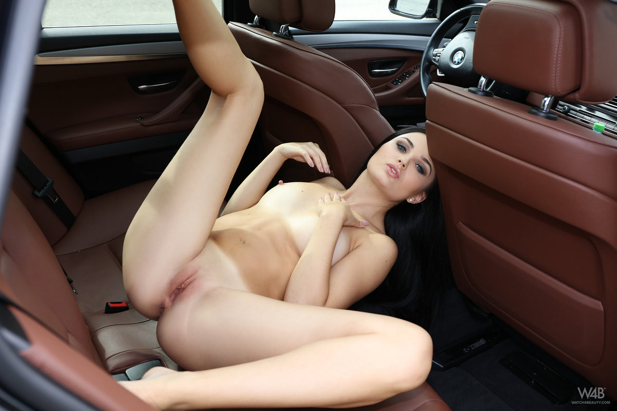 Wet pussy riding dick car