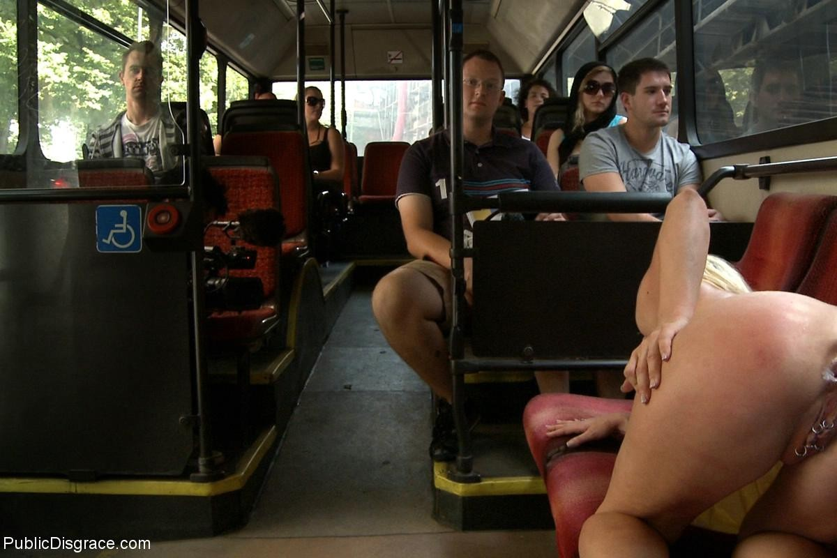 Busty sex on the bus, kissing while fuck porn