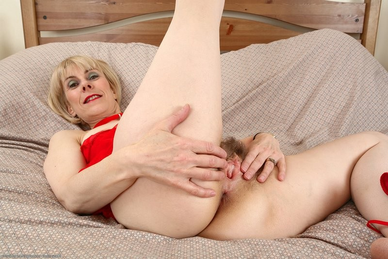 Hairy mature blonde milf hazel may with plump pussy wearing pink lingerie