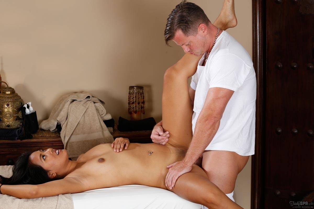 Girl massage boy after fucking