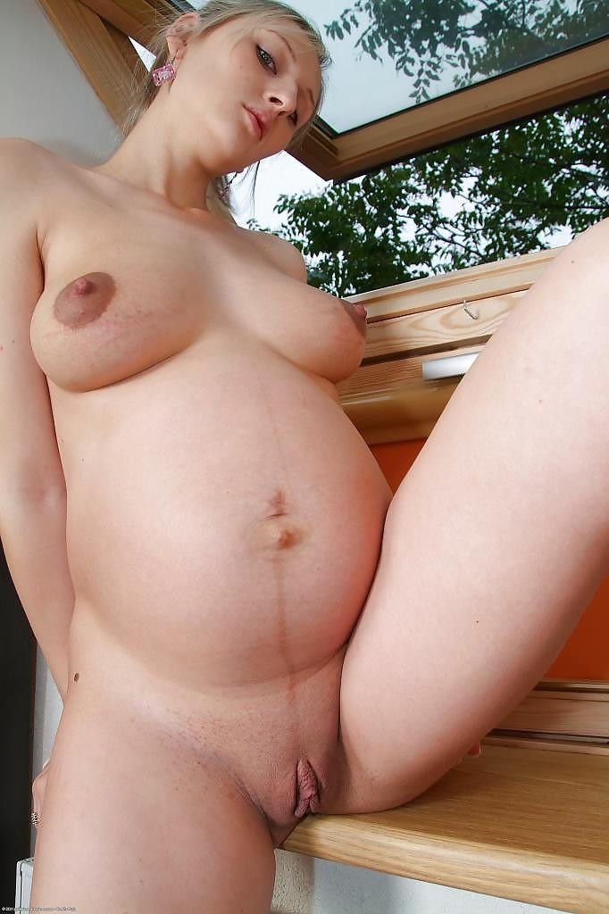 Pregnant marta strips naked and masturbates