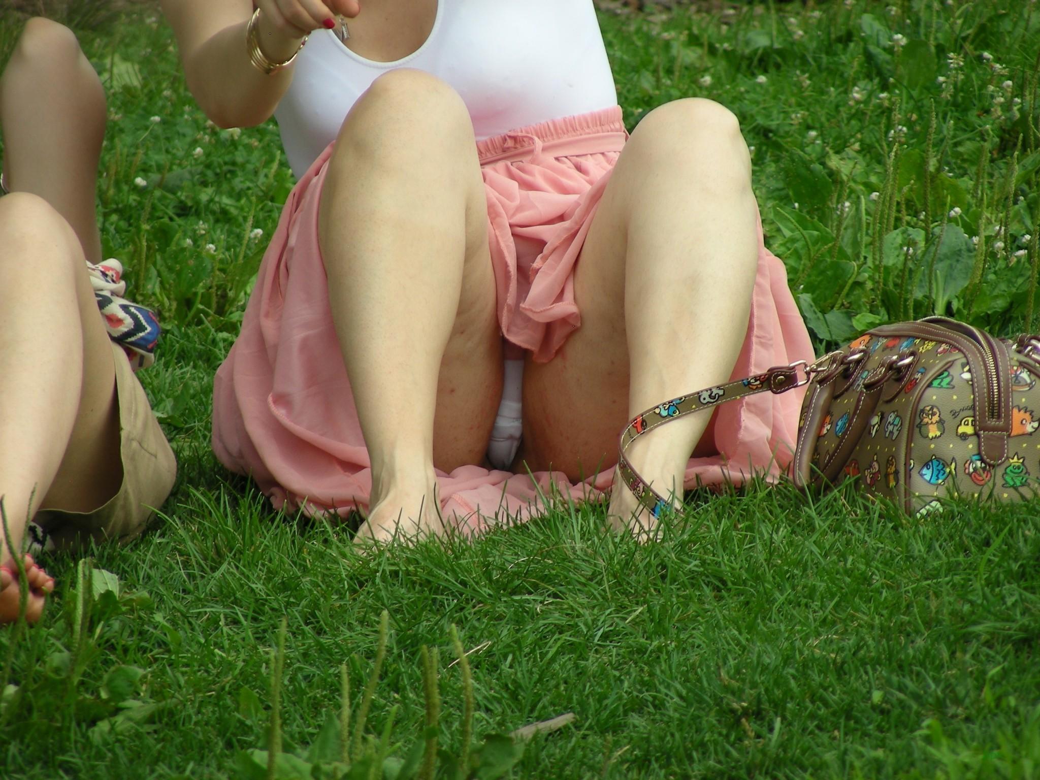 Girls pissing their panties in public