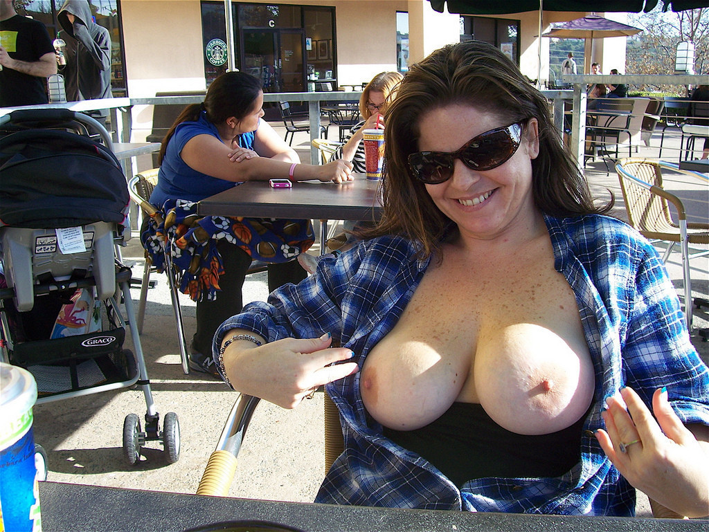 Wife tits on display