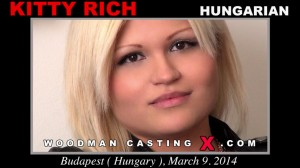 Белокурая венгерка Kitty Rich на собеседовании у Woodmana