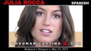 Красивая испанка Julia Roca трахается с тремя на кастинге Вудмана