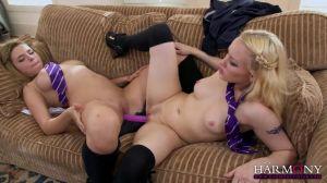 Сексуальные лесбиянки Marina Visconti и Lola Taylor