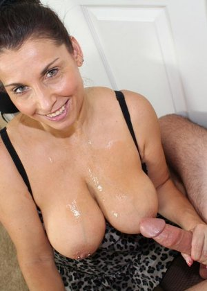 Milf milking her big breasts outdoors