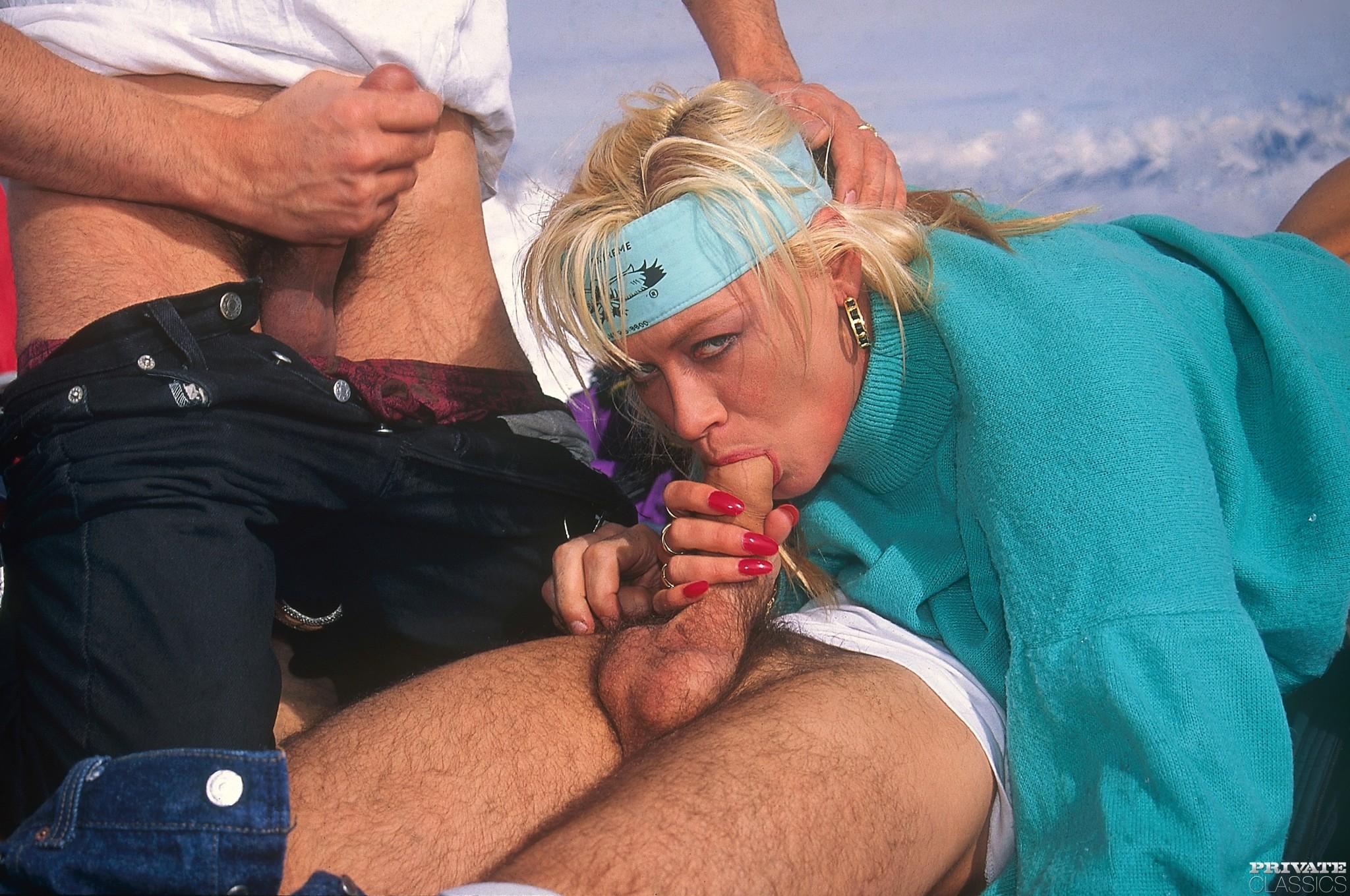 Ретро секс на горнолыжном курорте