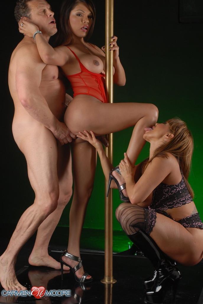 Stripper on pole on redtube