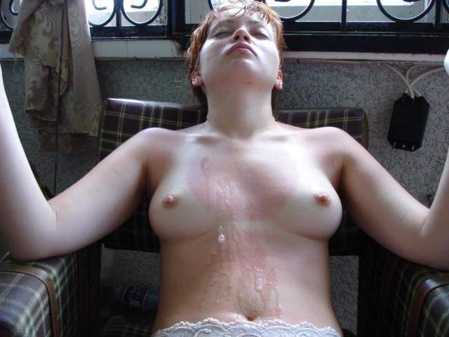 Сперма на обычных телках - подборка 027
