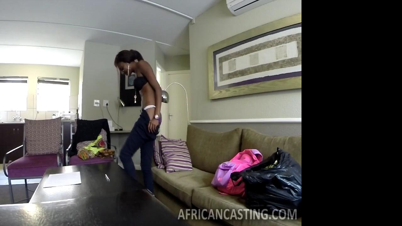 Кастинг африканки по полной программе