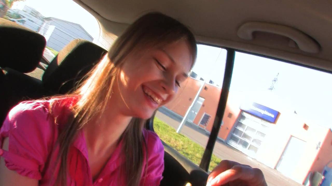 Beata ебется в машине с бойфрендом